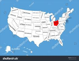 map usa ohio united states rivers and lakes map mapsofnet of midwest usa inside