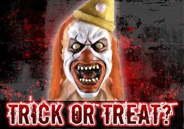 Scary Clown Meme - trick or treat scary clown meme generator