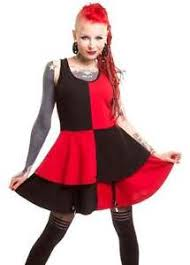 heartless jester black red dress harley quinn squad gothic