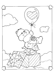 care bears sleeping coloring pages hellokids com