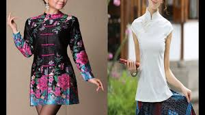 embroidered blouses collar tops and blouses collection lace blouses