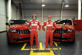 racing jeep grand cherokee jeep delivers special grand cherokee srt 8s to ferrari scuderia