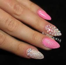 107 best rhinestone nails images on pinterest coffin nails
