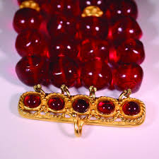 glass beads necklace images Vintage deep ruby red baroque glass bead choker necklace nyshowplace jpg