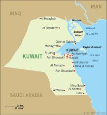kuwait on a map kuwait map kuwait travel maps from word travels