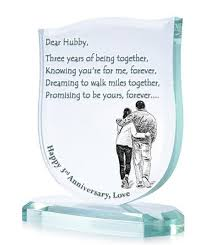 3rd anniversary gift ideas for him beautiful third wedding anniversary gift ideas for husband pictures