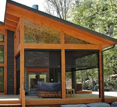 Outdoor Screen House by Ontario Timberframe Building Construction Attached Screen Room