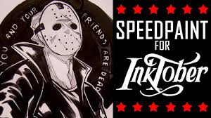 copic markers black friday inktober speedpaint 3 friday the 13th youtube