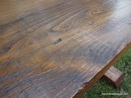 salvaged wood trestle table