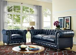 Rustic Leather Living Room Furniture Durango Rustic Blue Leather Sofa From Tov S38 Coleman Furniture
