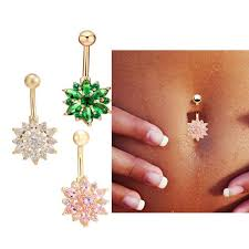 crystal belly rings images Medical steel crystal rhinestone belly button ring dangle navel jpeg
