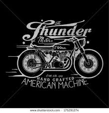 themed t shirts motorcycle themed t shirt printing design stock vector 175291274