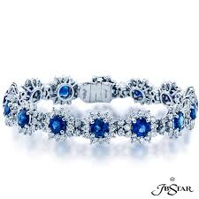 blue diamond bracelet images Blue sapphire and diamond bracelet addessi jewelers jpg
