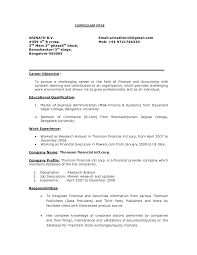 Sample Cfo Resume by General Career Objective For Resume Examples