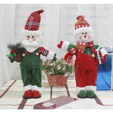 high quality dolls large santa snowman figurine toys gift
