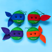 gnarly tmnt felt christmas ornaments nickelodeon parents