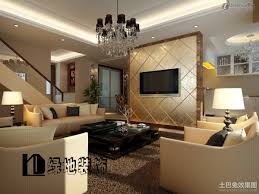 Tv Wall Decor by Tv Wall Decoration For Living Room With Gold Panel With