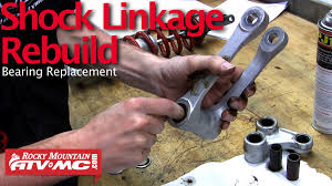 motorcycle shock linkage rebuild u0026 bearing replacement youtube
