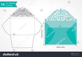 die cut envelope template laser cut stock vector 337492583