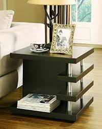 Modern End Tables Iohomes Dean Modern End Table Cappuccino Kitchen