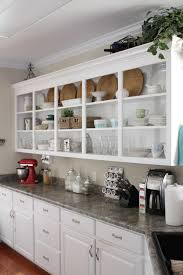 Open Shelving Modern Open Shelving Kitchen Ideas Chocoaddicts Com