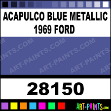 acapulco blue metallic 1969 ford model master metal paints and