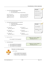 ks3 sequences u2013 term to term teachit maths