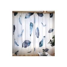 Patterned Window Curtains Unique Poly Cotton Black And White Feather Patterned Window Curtains