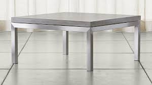 Concrete Coffee Table Parsons Concrete Top Stainless Steel Base 36x36 Square Coffee
