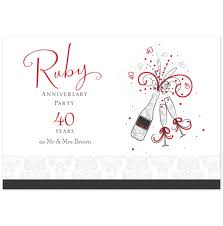 wedding invites wording wedding ideas shop ruby anniversary invitations and
