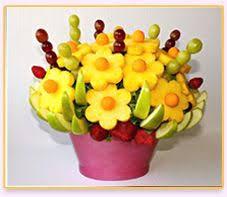 edible floral arrangements fresh fruit display like fruit shish kabobs for s birthday