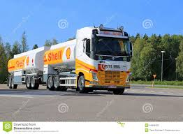 big volvo truck shell fuel truck editorial stock photo image 44846423