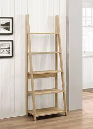Narrow Ladder Bookcase by Birlea Nordic Ladder Bookcase Wood Oak Amazon Co Uk Kitchen