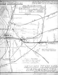 Rock Island Illinois Map by Memphis Railroad Maps