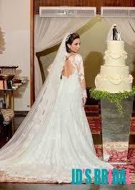 jol327 keyhole back illusion lace long sleeves wedding dress
