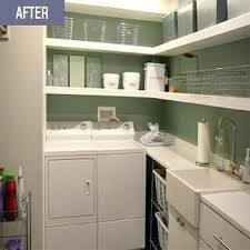 Ideas For Laundry Room Storage Laundry Shelving Ideas Designs Laundry Room With White Sink And