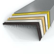 metal stair nose molding anti slip aluminium stair nosing anti