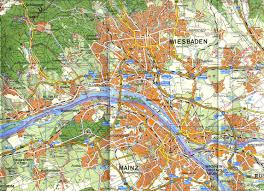 Wiesbaden Germany Map by Wiesbaden