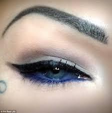eyeliner tattoo pain level london tattoo artist risks blindness to get her eyeballs injected