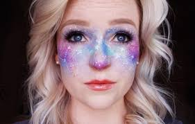 20 photos of galaxy faux freckles galaxy makeup