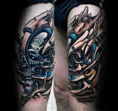 tattoo 3d mechanical 50 3d leg tattoo designs for men manly ink ideas
