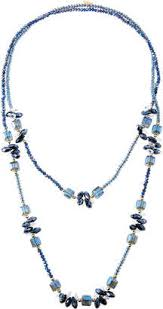 bead necklace long images Blue beaded necklace shopstyle jpg