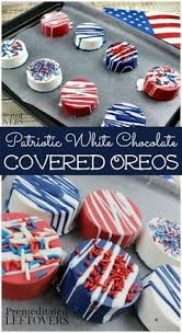 Red White And Blue Chocolate 4th Of July Dipped Oreo Flags Oreo Dips And Flags