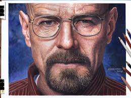 i drew a hyper realistic portrait of walter white in 60 hours