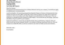 sample administrative assistant cover letter example executive