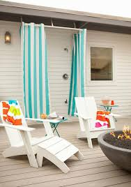 Outdoor Shower Curtains Outdoor Deck Shower With Turquoise Blue Striped Outdoor Shower