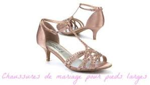 sandales plates mariage belles chaussures mariage femme pieds larges