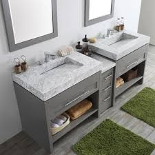 Bathroom Vanities With Glass Tops Glass Bathroom Vanities U0026 Vanity Cabinets Shop The Best Deals