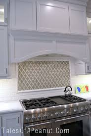 White Kitchen Tile Backsplash Home Design Enchanting Backsplash Behind Stove With Range Hood