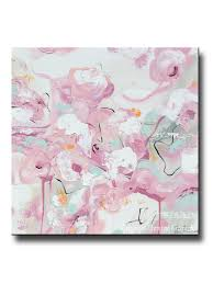 original home decor original art abstract painting pink white modern pastel wall art